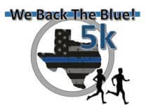 We Back The Blue 5k - 2017 registration logo