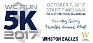 WE RUN 5K registration logo