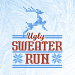 Wellington Ugly Sweater 5k run registration logo
