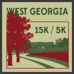West Georgia 15k/5k registration logo