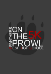 West High School Panthers on the Prowl 5k registration logo