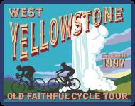 West Yellowstone Old Faithful Cycle Tour registration logo