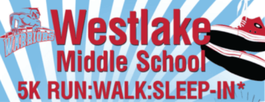 Westlake Middle School 5K Run, Walk, Sleep-In registration logo