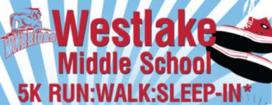 Westlake Middle School 5K Run, Walk, Sleep-In registration logo