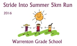 WGS Stride Into Summer 5km Run/Walk registration logo