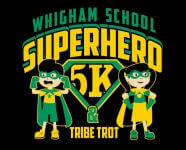 Whigham School Superhero 5k, 1 Mile and Tribe Trot registration logo