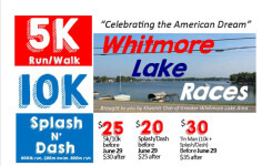 Whitmore Lake Races registration logo