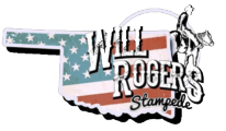 Will Rogers Stampede registration logo