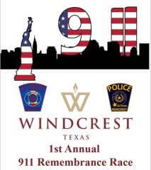 Windcrest 9/11 Remembrance Race & 1 Mile Walk registration logo
