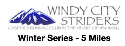 Winter Series 4 - 5 miles registration logo