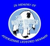 Winter Warrior 5K In Memory of Addrienne Ledford Newman registration logo