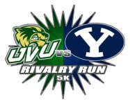 Wolverine Cougar Rivalry Run registration logo