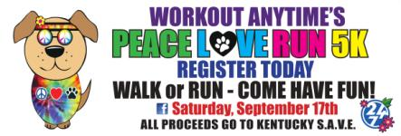 Workout Anytime Lexington 5K registration logo