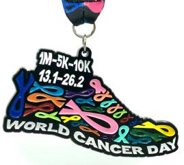 World Cancer Day 1M 5K 10K 13.1 26.2 registration logo