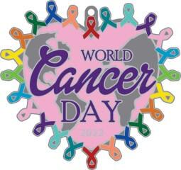 World Cancer Day 1Mile 5K 10K 13.1 26.2 registration logo