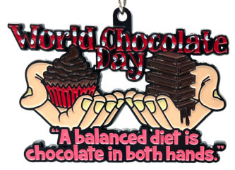World Chocolate Day 1M 5K 10K 13.1 and 26.2 registration logo