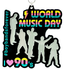 World Music Day 1M 5K 10K 13.1 26.2 registration logo
