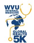 WVU IM For Global Health 5K registration logo