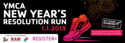 YMCA New Year's Resolution Run registration logo