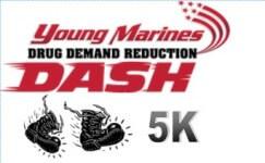 Young Marines DDR Drug Dash 5K registration logo
