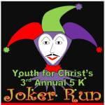 Youth for Christ joker run registration logo
