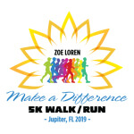 Zoe Loren Make A Difference Foundation 5k Run/Walk registration logo