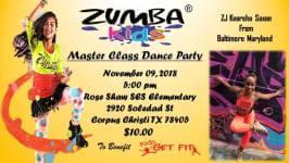 Zumba Kids R Master Class with ZJ Kearsha Saxon registration logo