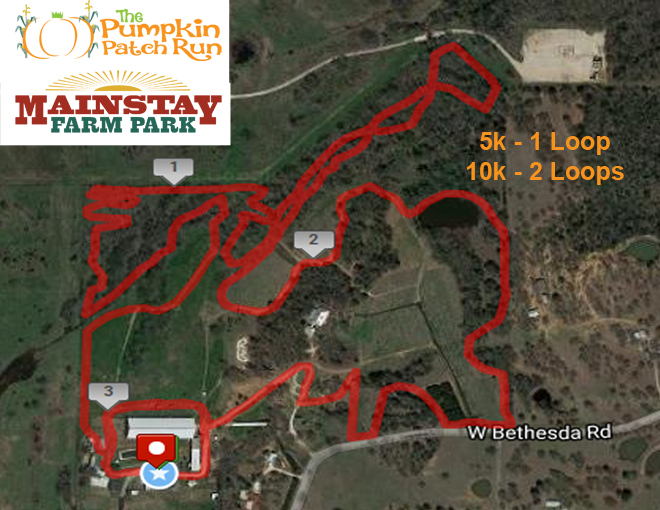 The Pumpkin Patch Run - Fort Worth, Texas Course Map