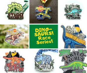 Dinosaurs Race Series registration logo