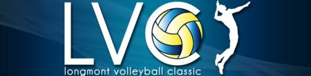 Longmont Volleyball Classic registration logo