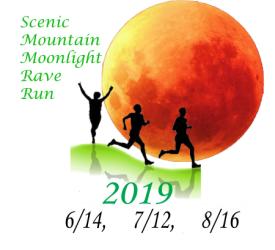 Scenic Mountain Moonlight Rave Runs 2019 registration logo