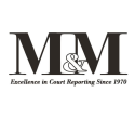 M & M Court Reporting Service logo