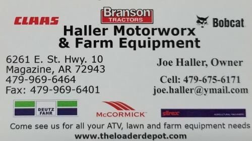 Haller Motorworx and Farm Equipment logo