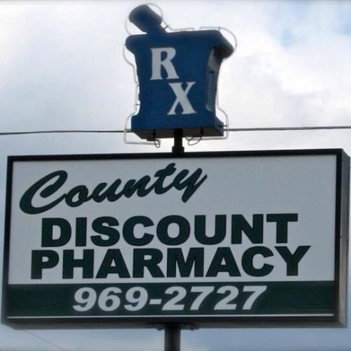 County Discount Pharmacy logo