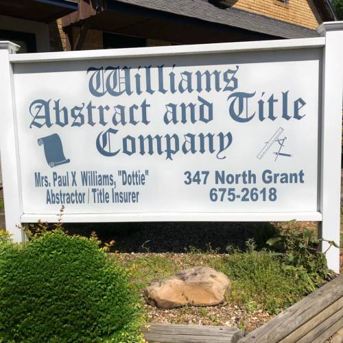 Williams Abstract and Title logo