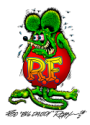 "Rat Fink ""Big Daddy Roth"" logo"