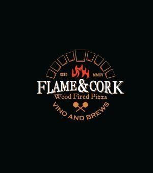 Flame & Cork Wood fired Pizza logo