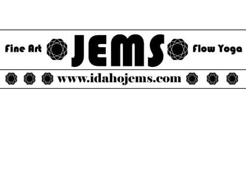JEMS Fine Art & Flow Yoga logo