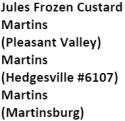 Jules Frozen Custard Martins Martins Martins logo
