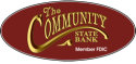The Community State Bank logo