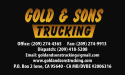 Gold and Sons Trucking logo