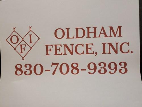 Oldham Fence, Inc. logo