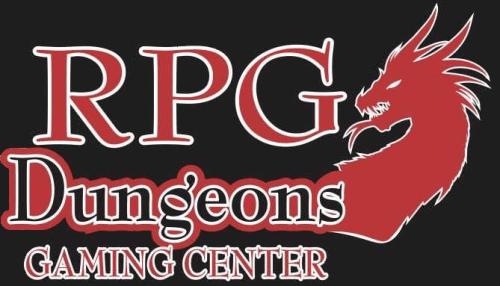 RPG Dungeons Gaming Center logo