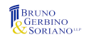 Our Gold sponsor, Bruno Gerbino & Soriano LLP logo