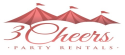 3 Cheers Party Rentals logo
