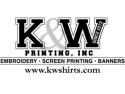 K & W Printing  logo