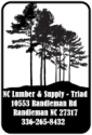 N.C. Lumber and Supply-Triad logo