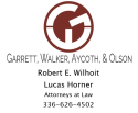 Garrett, Walker, Aycoth, Olsen - Robert Wilhoit & Lucas Horner, Attorneys at Law logo