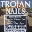 Trojan Nails logo