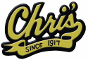 Chris' Hot Dogs logo